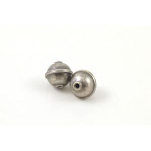 BILLE ARGENT GRIS ANTIQUE 10MM